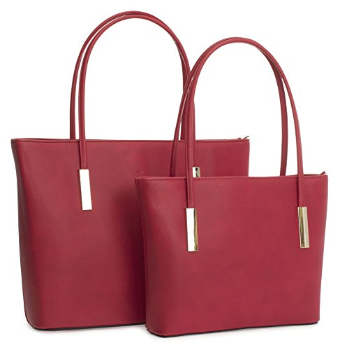 Big Handbag Shop ,  Damen Tasche Red (LL478)