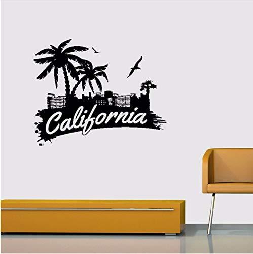 Lvabc 55X95 Cm California Signs Palmen Seabirds Dekoration Aufkleber Vinyl Wandaufkleber