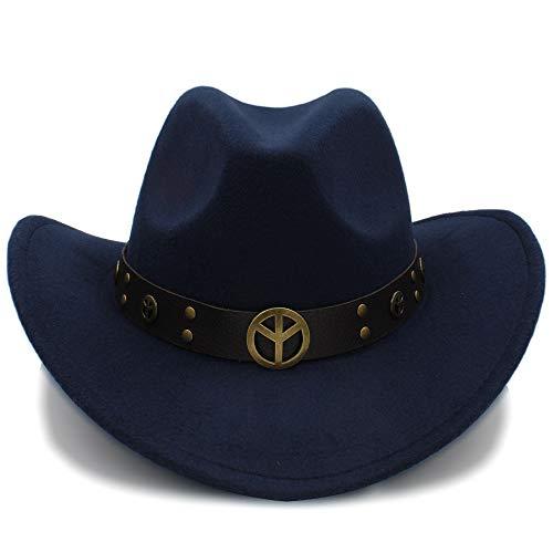 Mode Hüte, Mützen, Elegante Hüte, Naturkappen Herbst Winter Frauen Männer Wolle Western Cowboy Hüte Wildleder Look Wild West Fancy Dress Männer Damen Cowgirl Unisex Hut Roll-up ()