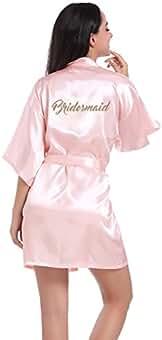 BOYANN Damas de Honor Ropa de Dormir Erótica para Mujer Sexy Batas y Kimonos de Satén