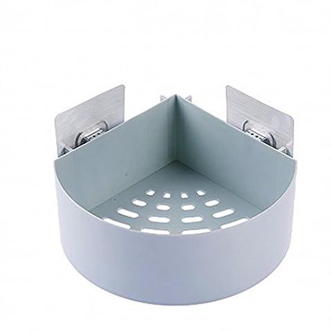 Plastik Badezimmer Küche Organizer Regal Rack Dreieck Dusche Ecke Caddy Korb mit Wand Montiert,Dreieckig