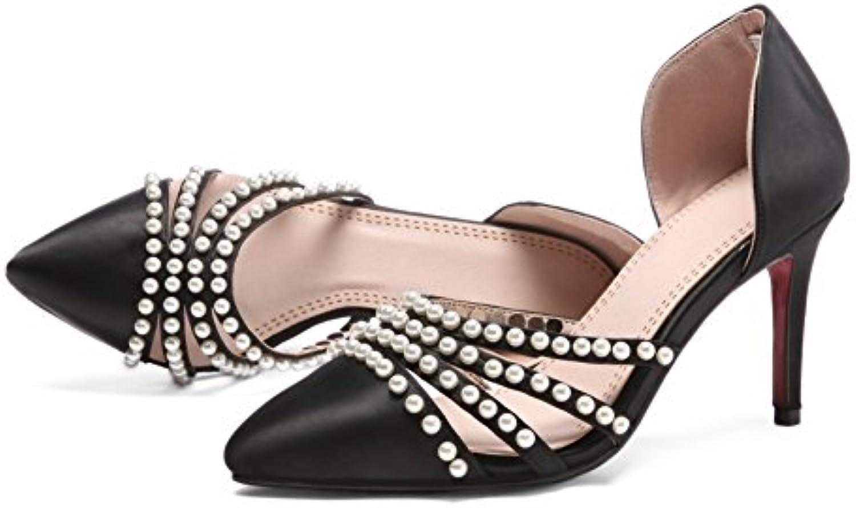 Cabeza Cuadrada Sandalias de Verano Nueva Moda, con Cuentas de Perlas y 32-42 Tamaño Grande de Novia Sandalias...