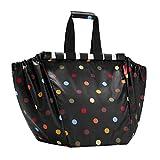 reisenthel easyshoppingbag dots Einkaufstasche Einkaufsbeutel - schwarz mit bunten Punkten