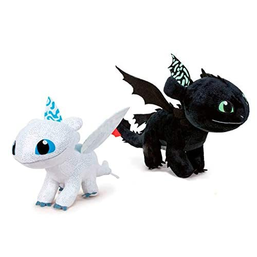 Play by Play Pack 2 Peluches como Entrenar a tu Dragón 3, 40 cm Brilla en la Oscuridad 8