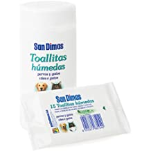 Bote 50 toallitas húmedas para limpieza de oidos, hocicos y ojos de perro ...