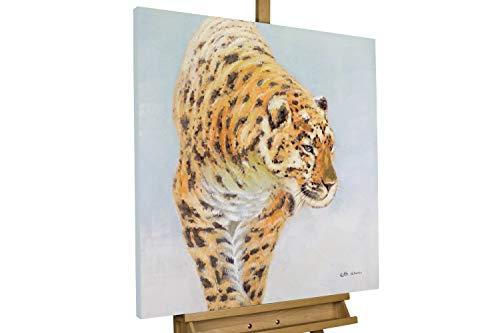 Kunstloft® Cuadro acrílico 'Guepardo galante' 80x80cm