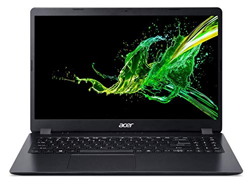 "Acer Aspire 3 315-54K-32JR Ordinateur Portable 15.6"" HD Noir (Core i3, 4 Go de RAM, SSD 256Go, AMD Radeon Vega 8 Graphics, Windows 10)"