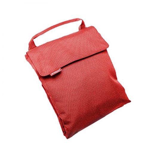 Wickelquick, Mobile Wickelunterlage, Wickeltasche, 60 x 60 cm, mit Trageschlaufe, 4 Seitentaschen, einhändig bedienbar, in rot