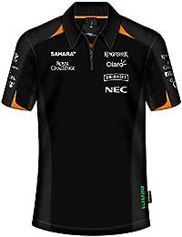 Sahara Force India F1 Team para Hombre patrocinador Negro Polo 01276c85201