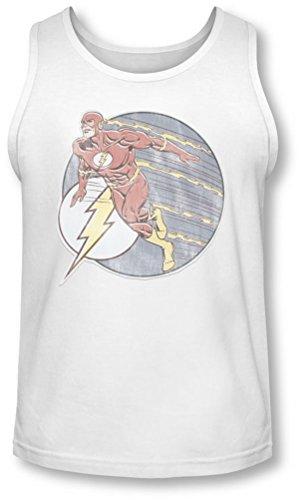 Dco da Flash, stile ferro-Canottiera bianco small