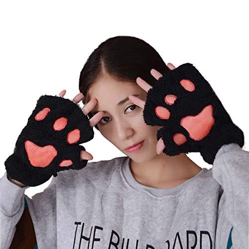 (TEBAISE Frauen Winter Handgelenkwärmer Gestrickte Tastatur-lange fingerlose Handschuhe Mitten Warme Unifarben Fäustlinge Handschu Cozy Halb Winterhandschuhe Strick Sporthandschuhe)