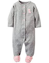 Carter's Baby Girls' Terry Footie (Baby) - Heather - 3 Months Color: Heather Size: 3 Months (Baby/Babe/Infant - Little ones)