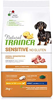 Natural Trainer Cibo per Cani Small & Toy Adult con Maiale e Cereali Integrali,