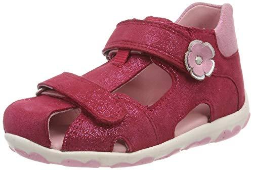 Superfit Baby Mädchen Fanni Sandalen, (Rot/Rosa 50), 22 EU