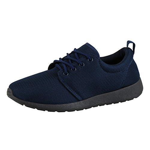 bfaae756ab8a76 Japado Herren Schuhe Sportschuhe Bequeme Laufschuhe Profilsohle Sneakers  Dunkelblau Navy 42