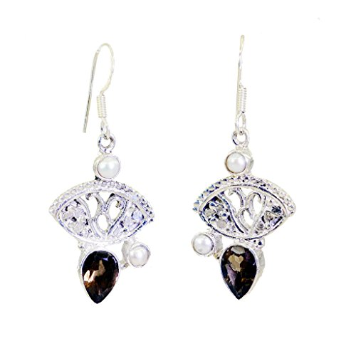riyo-gems-womens-smoky-quartz-overstock-silver-jewelry-gift-earring-l-16in-brown-n-1-2-