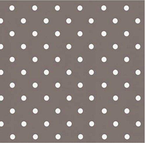 Klebefolie - Möbelfolie - Punkte Dots taupe 45 x 200 cm - Dekorfolie Vintage Retro Look, selbstklebende Folie - Bastelfolie