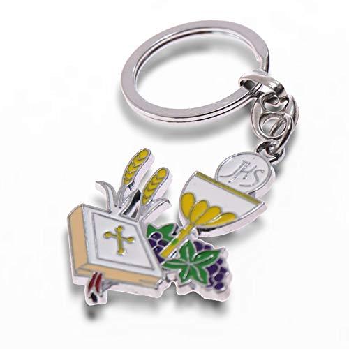 Gastgeschenk für die Erstkommunion, Heiliger Kelch als Schlüsselanhänger zum Selbermachen, für Jungen und Mädchen (10Stück) (Heilige Kelch)