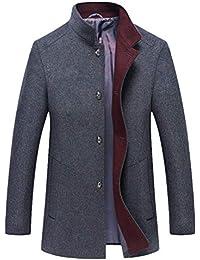 Mallimoda Uomo Cappotto Giacca Manica Lunga Slim Fit Caloroso Outwear  Cappotti Invernale di Lana 8beae812d90