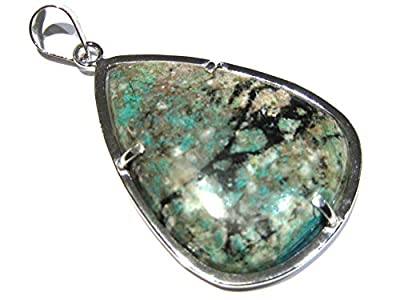 pendentif Turquoise chrysocolle argent 925%