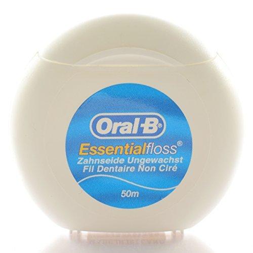 Oral-B Essentialfloss Zahnseide ungewachst 1x 50m