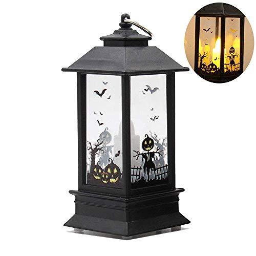 TJW Retero Halloween Deko LED Lampe Hängende Laterne Flamme Licht für Halloween Home Tischdekoration kürbis