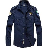 zxc Top Camisa De Manga Larga Ropa Casual Hombres Camisa,Azul Marino,L
