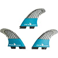 FCS II Performer PC Carbon Teal Thruster Finnen Set, M