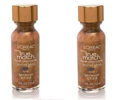 L'Oreal True Match Super-Blendable Bronze Glow (Cool) Face Bronzers, Light bronze C1-1-2-3 (2 Pack) by L'Oreal Paris