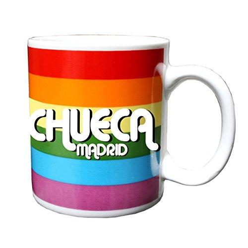 Taza CHUECA bandera gay arcoiris