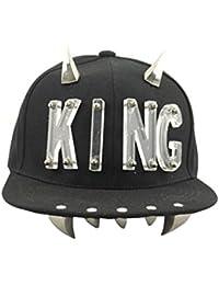 King Acryl englisches Wort Rivet Tusk Cool Schwarz-Hip-Hop Damen/Herren Unisex Mütze Cap