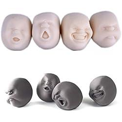 vovotrade Fidget el Buda Humor Top gracioso Face Anti-estrés auxiliar de presión de alivio Vent balón de juguete