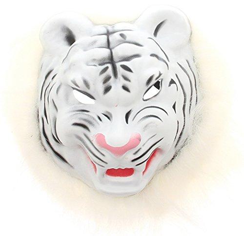 EOZY Unisex Halloween Maske Tiermaske Kostüm Fasching Karneval Weiß (Maskerade Maske Tiger)