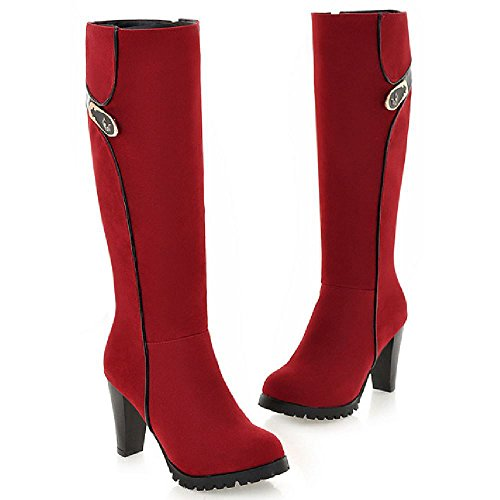 Fermeture Bottes red Lateral TAOFFEN Eclair Femmes gqTY4wT7