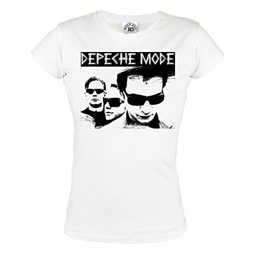 Rule Out Women T-Shirt. Depeche Mode. Violator Rock Band. Depeche Fans. Casual (Größe Small) (Baumwolle Damen-t-shirts Thai)