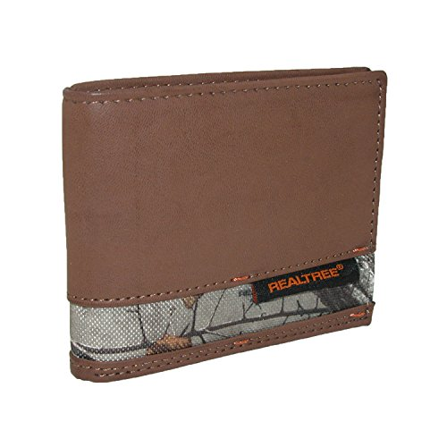 realtree-mens-leather-passcase-bifold-wallet-with-camouflage-print-insert-brown
