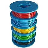 Litzen-Sortiment, 0,14mm², 5x10m auf Kunststoffspulen, 5 Farben