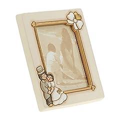 Idea Regalo - THUN C1962H90 Portafoto Grande da Parete/Appoggio Sposini, Ceramica, 25.5 x 28.4 x 5.4 cm