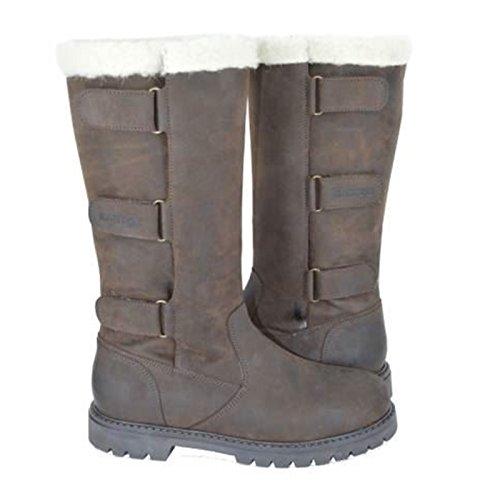 Kanyon Wisteria Country-Stiefel–Fleece gefüttert verstellbare Leder wasserabweisend Braun