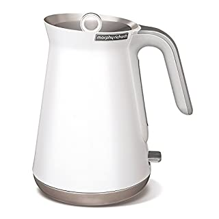 Morphy Richards Jug Kettle Aspect 100003 White Kettle With Metal Handle