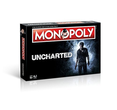 Winning Moves Monopoly Uncharted–El Famoso y Populares Sociedad Juego, Reúnen en el Mundo de Uncharted. (en alemán)