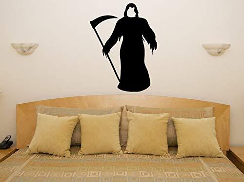 JXYY Sensenmann Tod Spuk Scarey Halloween Schlafzimmer Aufkleber Wandkunst Aufkleber Party Dekoration Wanddekoration Junge Dedroom56x76cm