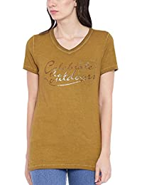 Wolfpack Round Neck Half Sleeves Women Outdoors Organic Cotton T Shirts - Celebrate The Outdoors