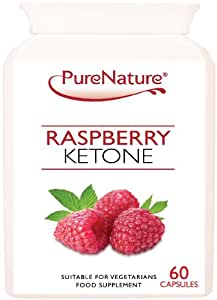 Pure Raspberry Ketone to Support Weight Loss & Slimming 60 Capsules One Month Supply UK Made No Stimulants Extra Safe & Certified Suitable for Vegetarians & Vegans FREE UK DELIVERY