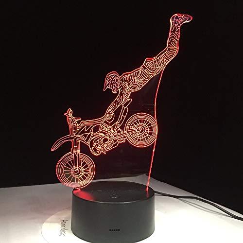 Lámpara acrobática de Color claro para motocicleta Con Control táctil, Regalo Visual, luz nocturna, lámpara para habitación de niños