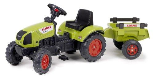 Falk - Tractor con pedales y remolque, color verde (2040C)