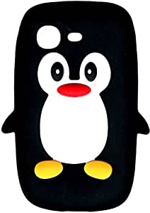 Nouveauté! Pingouin / Manchot Mignon Étui / Housse / Coque en Silicone pour Samsung Galaxy Pocket Neo S5310 – Noir