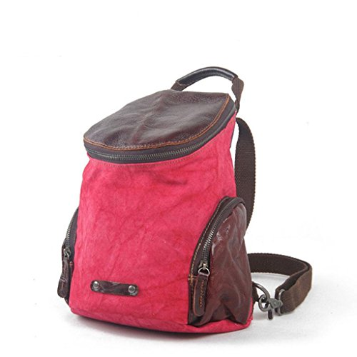 Europa e negli Stati Uniti tela zaino borsa casual borsa da viaggio zaino, meters white Red