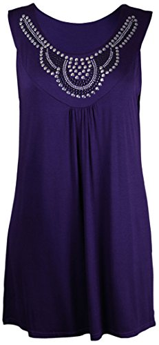 Funky Fashion Shop Damen Kleid Violett
