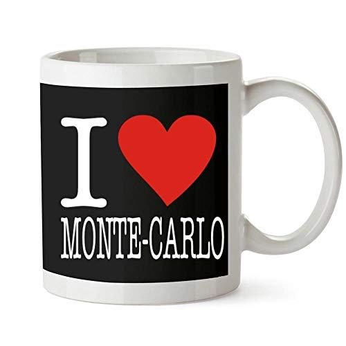 Monte-carlo-becher (Idakoos I Love Monte Carlo Typewriter Style Becher Keramik 11 unzen)
